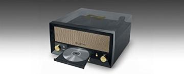 Muse MT-110 B Retro Stereo-Anlage mit Plattenspieler, Bluetooth, CD-Player und Radio mit USB für Wiedergabe und Aufnahme, schwarz - 4