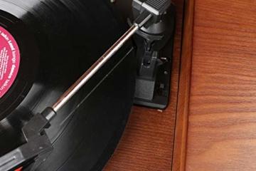 Nostalgie Holz Musikanlage | Kompaktanlage | Retro Stereoanlage | Plattenspieler | Radio | CD MP3 Player USB | Fernbedienung | MP3-Encoding: Aufnahmefunktion AUX IN | Lautsprecher | hochwertiges Holz - 7