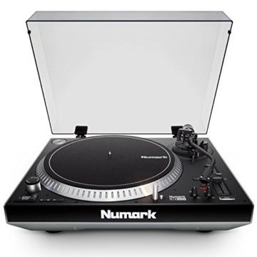 Numark NTX1000 - professioneller High-Torque DJ-Plattenspieler mit Direktantrieb, S-förmigem Tonarm, Pitch-Fader und isoliertem Gehäuse für laute Umgebungen - 2