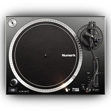 Numark NTX1000 - professioneller High-Torque DJ-Plattenspieler mit Direktantrieb, S-förmigem Tonarm, Pitch-Fader und isoliertem Gehäuse für laute Umgebungen - 3
