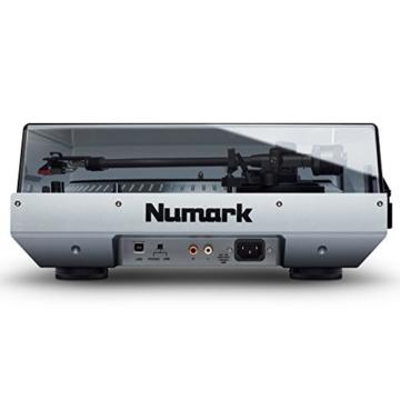 Numark NTX1000 - professioneller High-Torque DJ-Plattenspieler mit Direktantrieb, S-förmigem Tonarm, Pitch-Fader und isoliertem Gehäuse für laute Umgebungen - 4