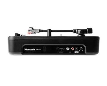 Numark PT01 Scratch - tragbarer DJ-Plattenspieler mit  auswechselbarem Scratch-Switch, eingebautem Lautsprecher, Stromversorgung über Batterie / Netzteil, 3 Geschwindigkeiten und USB-Verbindung - 4