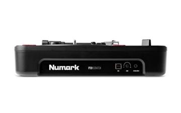 Numark PT01 Scratch - tragbarer DJ-Plattenspieler mit  auswechselbarem Scratch-Switch, eingebautem Lautsprecher, Stromversorgung über Batterie / Netzteil, 3 Geschwindigkeiten und USB-Verbindung - 6