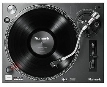 Numark TT250USB | Professioneller DJ-Plattenspieler mit Direktantrieb und starkem Anlaufdrehmoment, Aluminium-Plattenteller, hochwertigem Magnettonabnehmer und 3,5-mm-Eingang für Fernstartfunktion - 2
