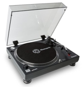 Numark TT250USB | Professioneller DJ-Plattenspieler mit Direktantrieb und starkem Anlaufdrehmoment, Aluminium-Plattenteller, hochwertigem Magnettonabnehmer und 3,5-mm-Eingang für Fernstartfunktion - 1