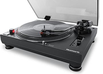 Numark TT250USB | Professioneller DJ-Plattenspieler mit Direktantrieb und starkem Anlaufdrehmoment, Aluminium-Plattenteller, hochwertigem Magnettonabnehmer und 3,5-mm-Eingang für Fernstartfunktion - 3
