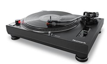 Numark TT250USB | Professioneller DJ-Plattenspieler mit Direktantrieb und starkem Anlaufdrehmoment, Aluminium-Plattenteller, hochwertigem Magnettonabnehmer und 3,5-mm-Eingang für Fernstartfunktion - 4