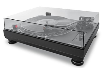 Numark TT250USB | Professioneller DJ-Plattenspieler mit Direktantrieb und starkem Anlaufdrehmoment, Aluminium-Plattenteller, hochwertigem Magnettonabnehmer und 3,5-mm-Eingang für Fernstartfunktion - 5