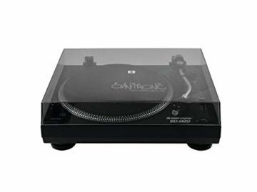 Omnitronic BD-1320 Plattenspieler schwarz | Riemengetriebener DJ-Plattenspieler | Lieferung inkl. Tonabnehmersystem - 3