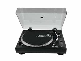 Omnitronic BD-1320 Plattenspieler schwarz | Riemengetriebener DJ-Plattenspieler | Lieferung inkl. Tonabnehmersystem - 1