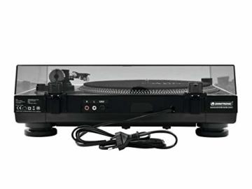 Omnitronic BD-1320 Plattenspieler schwarz | Riemengetriebener DJ-Plattenspieler | Lieferung inkl. Tonabnehmersystem - 5