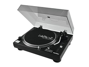 Omnitronic DD-2520 USB-Plattenspieler sw, Direktgetriebener DJ-Plattenspieler mit Phono-/Line-Umschaltung, Digitalisieren Sie in wenigen Schritten Ihre alten Vinyl-Schätze - 2