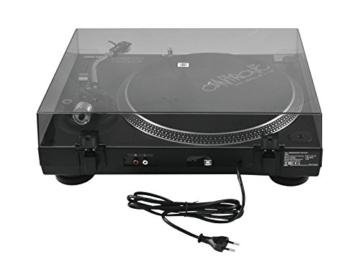 Omnitronic DD-2520 USB-Plattenspieler sw, Direktgetriebener DJ-Plattenspieler mit Phono-/Line-Umschaltung, Digitalisieren Sie in wenigen Schritten Ihre alten Vinyl-Schätze - 4