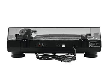 Omnitronic DD-2520 USB-Plattenspieler sw, Direktgetriebener DJ-Plattenspieler mit Phono-/Line-Umschaltung, Digitalisieren Sie in wenigen Schritten Ihre alten Vinyl-Schätze - 5