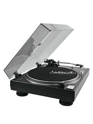 Omnitronic DD-2520 USB-Plattenspieler sw, Direktgetriebener DJ-Plattenspieler mit Phono-/Line-Umschaltung, Digitalisieren Sie in wenigen Schritten Ihre alten Vinyl-Schätze - 6
