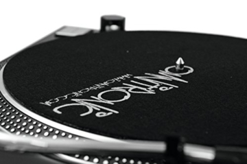 Omnitronic DD-2520 USB-Plattenspieler sw, Direktgetriebener DJ-Plattenspieler mit Phono-/Line-Umschaltung, Digitalisieren Sie in wenigen Schritten Ihre alten Vinyl-Schätze - 7
