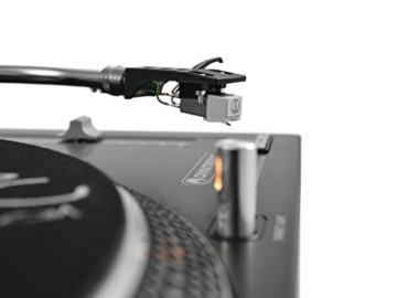 Omnitronic DD-2520 USB-Plattenspieler sw, Direktgetriebener DJ-Plattenspieler mit Phono-/Line-Umschaltung, Digitalisieren Sie in wenigen Schritten Ihre alten Vinyl-Schätze - 9