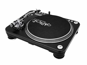 Omnitronic DD-5220L Plattenspieler schwarz | Direktgetriebener DJ-Plattenspieler