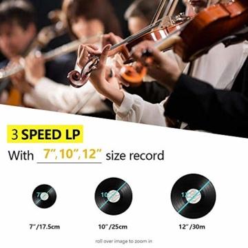 Plattenspieler 7-in-1 Vinyl Turntable de dl Record Player Vintage Holz mit Bluetooth, UKW-Radio, Integrierte Stereo-Lautsprecher, CD/MP3/Cassette Spielen,/USB Play & Encoding (DL-189BD-99) - 2