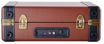Plattenspieler Koffer | Schallplattenspieler | Turntable | Nostalgie Retro Plattenspieler im Koffer | Vinyl Player | Kofferplattenspieler | AUX IN | integrierte Lautsprecher | - 5