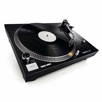 Reloop RP-2000 USB MK2 - quarzgesteuerter DJ-Plattenspieler mit Direktantrieb, 33 1/3 und 45 RPM, USB-Audio-Ausgang, präzisierter Pitch (+/-8 %), schwarz - 2
