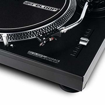 Reloop RP-2000 USB MK2 - quarzgesteuerter DJ-Plattenspieler mit Direktantrieb, 33 1/3 und 45 RPM, USB-Audio-Ausgang, präzisierter Pitch (+/-8 %), schwarz - 4