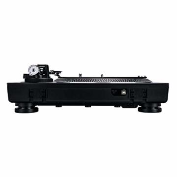 Reloop RP-2000 USB MK2 - quarzgesteuerter DJ-Plattenspieler mit Direktantrieb, 33 1/3 und 45 RPM, USB-Audio-Ausgang, präzisierter Pitch (+/-8 %), schwarz - 7