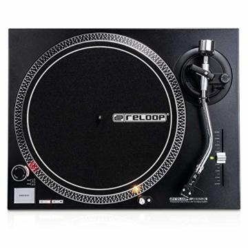 Reloop RP-2000 USB MK2 - quarzgesteuerter DJ-Plattenspieler mit Direktantrieb, 33 1/3 und 45 RPM, USB-Audio-Ausgang, präzisierter Pitch (+/-8 %), schwarz - 8