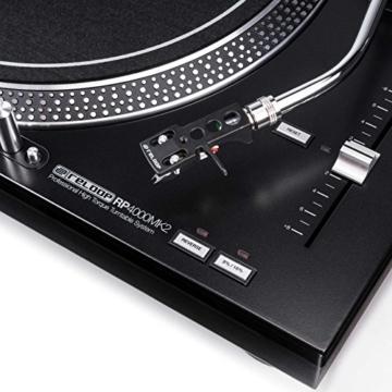 Reloop RP-4000 MK2 - DJ Plattenspieler mit starkem Torque Direktantrieb, Inkl. Plattenteller, OM Black Tonabnehmersystem, Headshell, Slipmat und Gegengewicht, schwarz - 3
