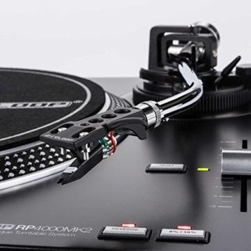 Reloop RP-4000 MK2 - DJ Plattenspieler mit starkem Torque Direktantrieb, Inkl. Plattenteller, OM Black Tonabnehmersystem, Headshell, Slipmat und Gegengewicht, schwarz - 4