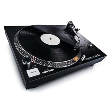 Reloop RP-4000 MK2 - DJ Plattenspieler mit starkem Torque Direktantrieb, Inkl. Plattenteller, OM Black Tonabnehmersystem, Headshell, Slipmat und Gegengewicht, schwarz - 5