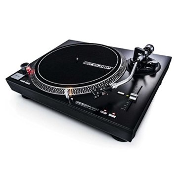 Reloop RP-4000 MK2 - DJ Plattenspieler mit starkem Torque Direktantrieb, Inkl. Plattenteller, OM Black Tonabnehmersystem, Headshell, Slipmat und Gegengewicht, schwarz - 6