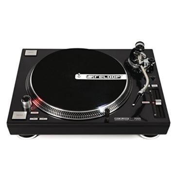 Reloop RP-7000 – DJ Plattenspieler mit sehr starkem High Torque Quartz-Direktantrieb, höhenverst. (VTA) Tonarm, Pitch-Bereich (+/-8%, +/-16%, +/-50%), (schwarzmetallic) - 2