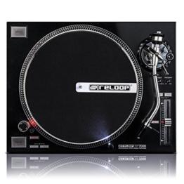 Reloop RP-7000 – DJ Plattenspieler mit sehr starkem High Torque Quartz-Direktantrieb, höhenverst. (VTA) Tonarm, Pitch-Bereich (+/-8%, +/-16%, +/-50%), (schwarzmetallic) - 1