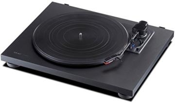 Teac TN-180BT(B) Hifi Plattenspieler mit Bluetooth Sender für Lautsprecher und Kopfhörer (Riemenantrieb, 33/45/78 U/min, integrierter Phono-Vorverstärker, High-Density MDF-Gehäuse), Schwarz - 3