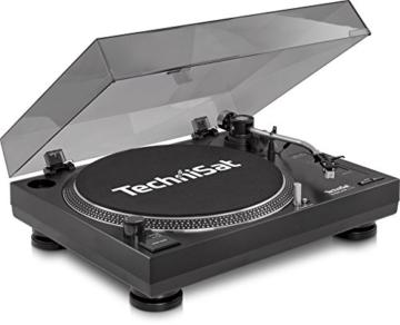 TechniSat TECHNIPLAYER LP 300 - Profi-USB-DJ-Plattenspieler (mit Scratch-Funktion und Digitalisierungsfunktion (Drehzahl: 33/45 U/min, Quarzgesteuerter Direktantrieb)) schwarz - 1