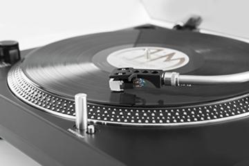 TechniSat TECHNIPLAYER LP 300 - Profi-USB-DJ-Plattenspieler (mit Scratch-Funktion und Digitalisierungsfunktion (Drehzahl: 33/45 U/min, Quarzgesteuerter Direktantrieb)) schwarz - 9