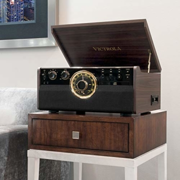 Victrola Empire 6-in-1 Bluetooth Plattenspieler Music Centre - 4